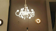 卡尔斯特现代室内白色玻璃吊灯