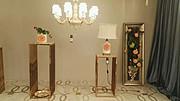 卡尔斯特现代室内酒店大厅白色吊灯