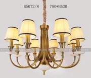 柏艺灯饰室内典雅LED吊灯B5072/8创意别墅吊灯