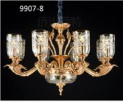 侨治萨特9907-8现代室内欧式玻璃镀金吊灯