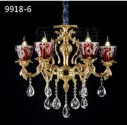 侨治萨特现代室内9918-6玻璃水晶吊灯