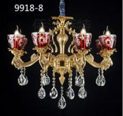 侨治萨特现代室内黄铜本色9918-8水晶吊灯