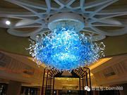 博思西梦现代室内蓝色经典水晶玻璃吊灯