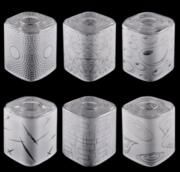 新中式简约玻璃方形清光印蒙沙反印版100*120灯罩
