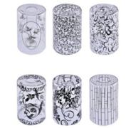 新中式简约玻璃圆形黑色丝印120*200灯罩