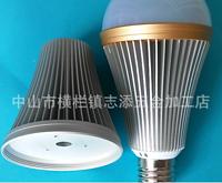 12WLED车铝螺口防尘虫球泡灯外壳套件