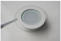莱诺现代简约圆形6WLED玻璃面板灯