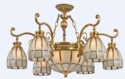 福仕.爱利森9255A-6家居照明美式焊锡灯