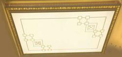 众烁现代室内白色花纹铁艺客厅灯