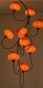 图卡斯3336橘色玻璃月下铃兰吊灯