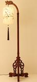 图卡斯3638龙凤呈祥现代中式木材落地灯