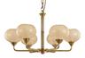 恒典1668/6现代室内玻璃罩铝材吊灯
