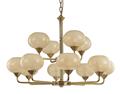 恒典1668/8+4现代玻璃罩镀金吊灯