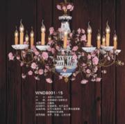 维娜迪WND8001-15现代奢华蜡烛灯吊灯
