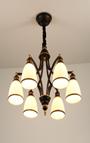 稀缔娜8035现代玻璃罩美式铁艺吊灯