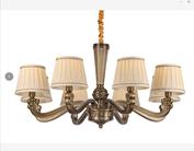 御艺0618/8现代室内全铜中式灯吊灯