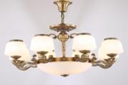 美帝娜F9294-8L如意现代室内镀金玻璃罩吊灯