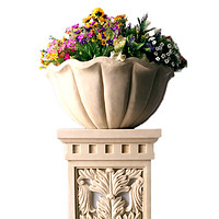 浮雕装饰花盆花座灯座