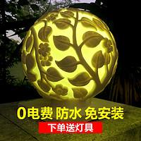 欧式砂岩欧式浮雕圆形球灯