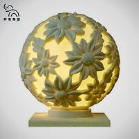 砂岩欧式浮雕圆形球灯园林装饰灯