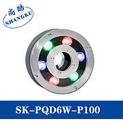 LED水底灯6W水下喷泉灯 IP65 低压RGB七彩水池灯