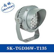 LED大功率投光灯36W圆形投射灯公园广告车轮投光灯照树灯