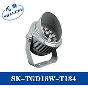 LED户外防水大功率单颗照树灯圆形单色射灯投光灯泛光灯18W