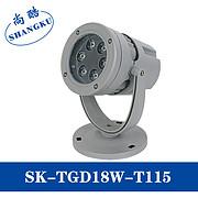 led圆形投射灯投光灯户外工程聚光防水灯工程景观射灯18W