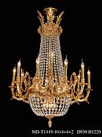 创丽特室内奢华水晶铜灯