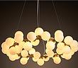 雅蔻后现代灯简约多头玻璃球创意个性dna分子服装店吊灯