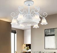 欧式负离子吊扇灯风扇灯隐形卧室餐厅带电扇灯简约美式客厅吊灯具