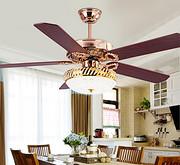现代创意LED遥控法国餐厅吊扇灯吊扇灯