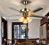 美式艺术仿古调档卧室客厅餐厅酒店风扇灯