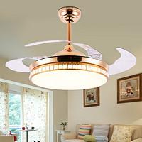 隐形吊扇灯 餐厅风扇灯简约现代家用客厅电扇灯卧室带led风扇吊灯