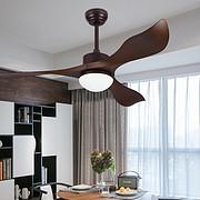 餐厅风扇灯简约现代家用客厅电扇灯卧室带led风扇吊灯