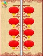 汉铭现代LED4连串灯笼
