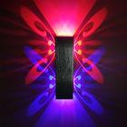 1W2W单头双头蝴蝶壁灯室内壁灯led方形壁灯酒店酒吧床头壁灯