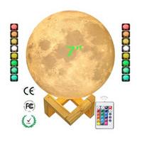 月球灯 3d打印月球灯 超大月球灯 16色遥控版月球灯 触控月球灯