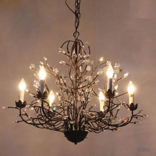 铁艺水晶吊灯