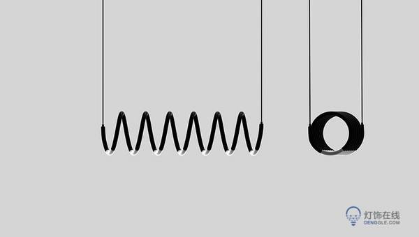 向钨丝致敬的灯饰设计helix