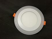 6+3W暗装双色圆形面板灯