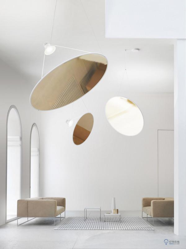 形似太阳帆的Amisol灯 设计师又把灯光玩嗨了