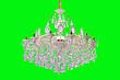 白色压铸铁艺水晶灯