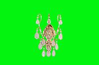 扁铁水晶壁灯
