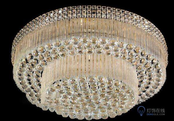 圆形玻璃水晶吊灯多少钱能买到