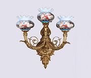 欧式陶瓷3头壁灯