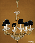 6头全铜+玻璃吊灯
