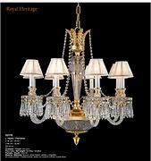 全铜+水晶+玻璃吊灯