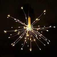 铜线烟花灯