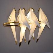 餐厅创意北欧后现代吊灯千纸鹤小鸟艺术酒店别墅吊